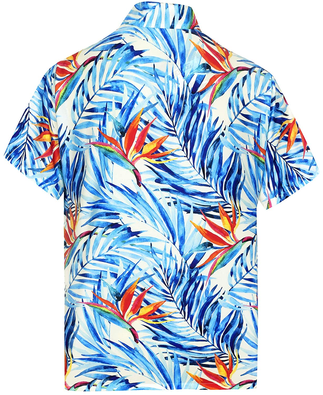 HAPPY BAY 3D Mens Blouse Button Down Front Pocket Beach Wear Shirt Camp Party