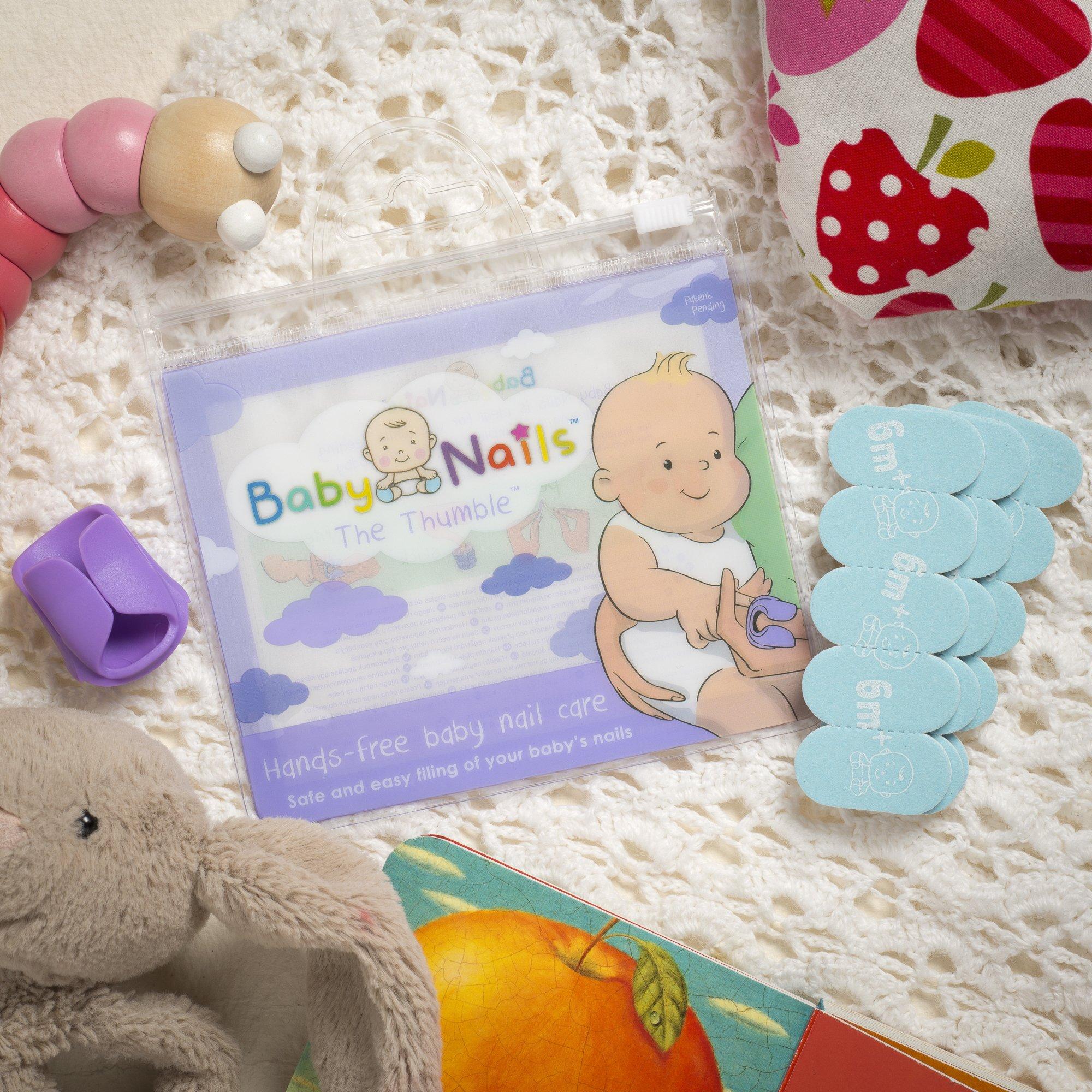 Baby Nails, la lime à ongle main-libre conçue pour bébé (six mois et +)