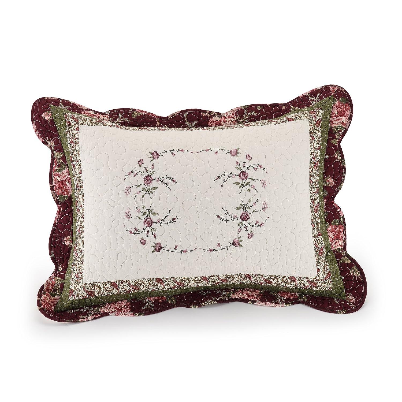 MODERN HEIRLOOM Collection Brooke Cotton Filled Standard Sham, 20 by 26-Inch Peking Handicraft Inc. 80PHC367B09C1501