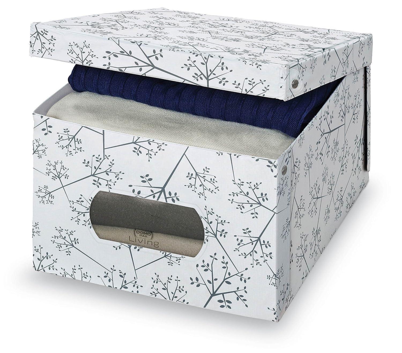Domopak Living Scatola in PVC 39 x 5 x 24 cm Bianco