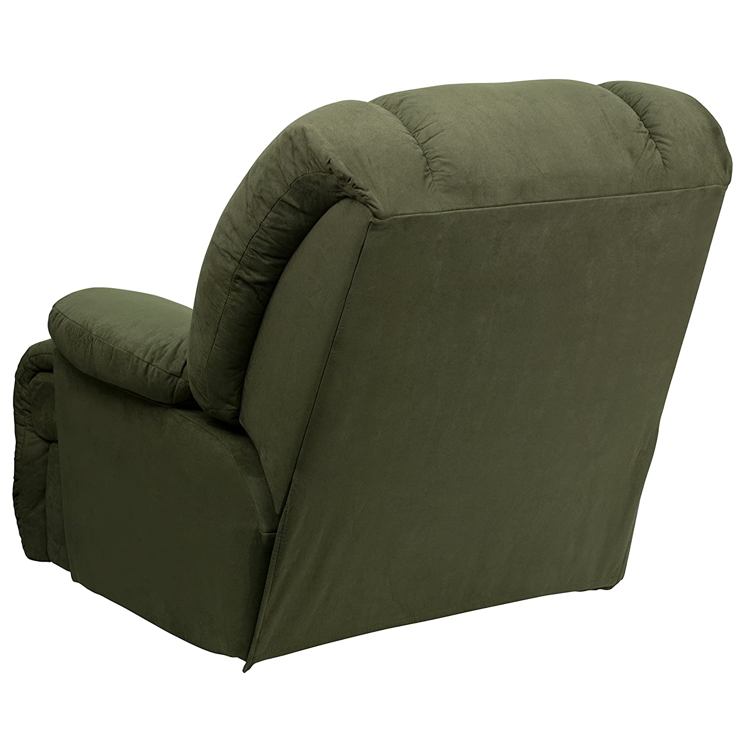 3e9eb85b9cf Amazon.com  Flash Furniture Contemporary Glacier Olive Microfiber Chaise Rocker  Recliner  Kitchen   Dining