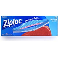 Ziploc Freezer Bag, Gallon Size-28 ct