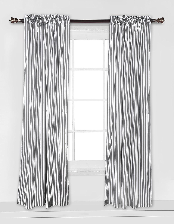 Amazon.com : Bacati - Grey Pin Stripes Curtain Panel : Baby