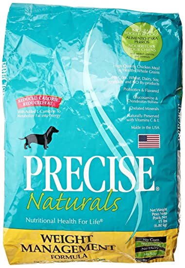 Precise Natural Weight Management Dog Food 15LB