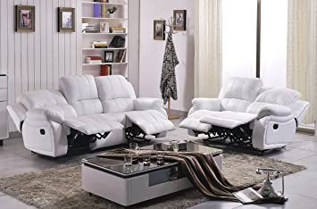 Voll Leder Couch Sofa Garnitur Relaxsessel Polstermöbel