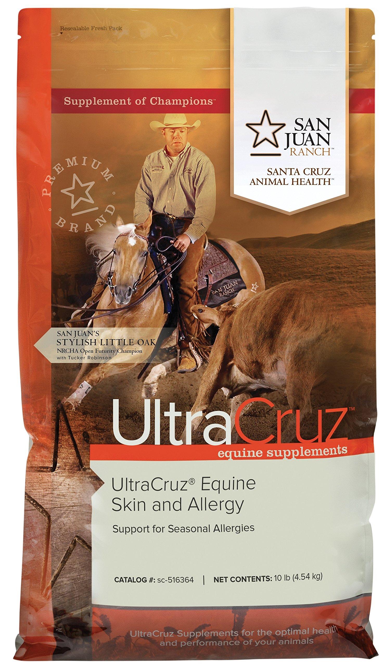 UltraCruz Equine Skin and Allergy Supplement for Horses, 10 lb, Pellet (80 Day Supply)