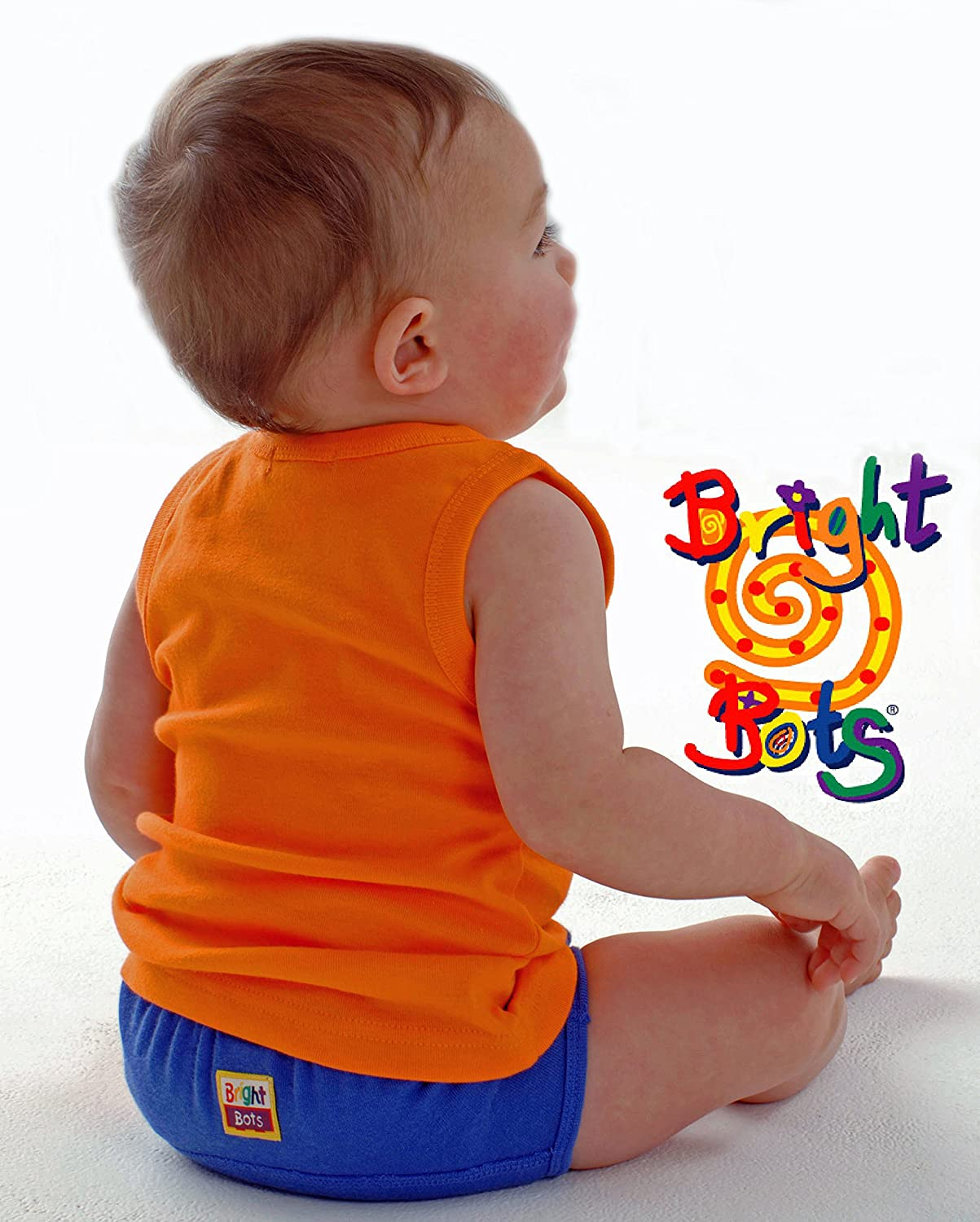 Approx 12months Boy Bright Bots Boys Washable Potty Training Pants 4pk Small with PUL Waterproof Lining