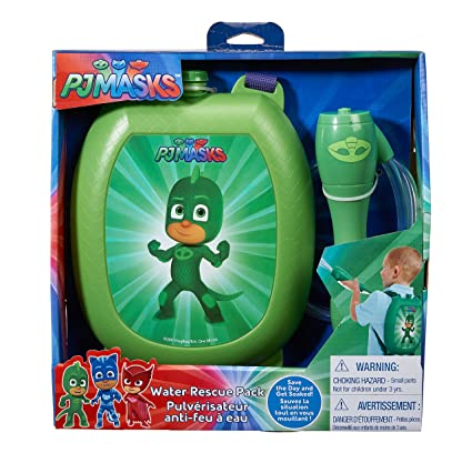 Little Kids PJ Masks Gekko Water Blaster Backpack Water Squirter Toy, Green