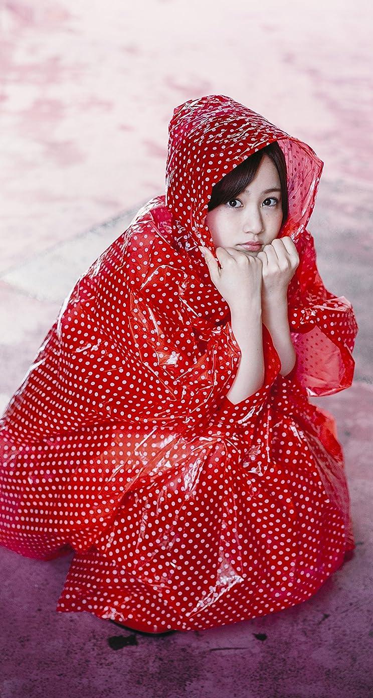 乃木坂46 赤ずきんちゃんのような雨合羽の星野みなみさん iPhoneSE/5s/5c/5 壁紙 視差効果画像