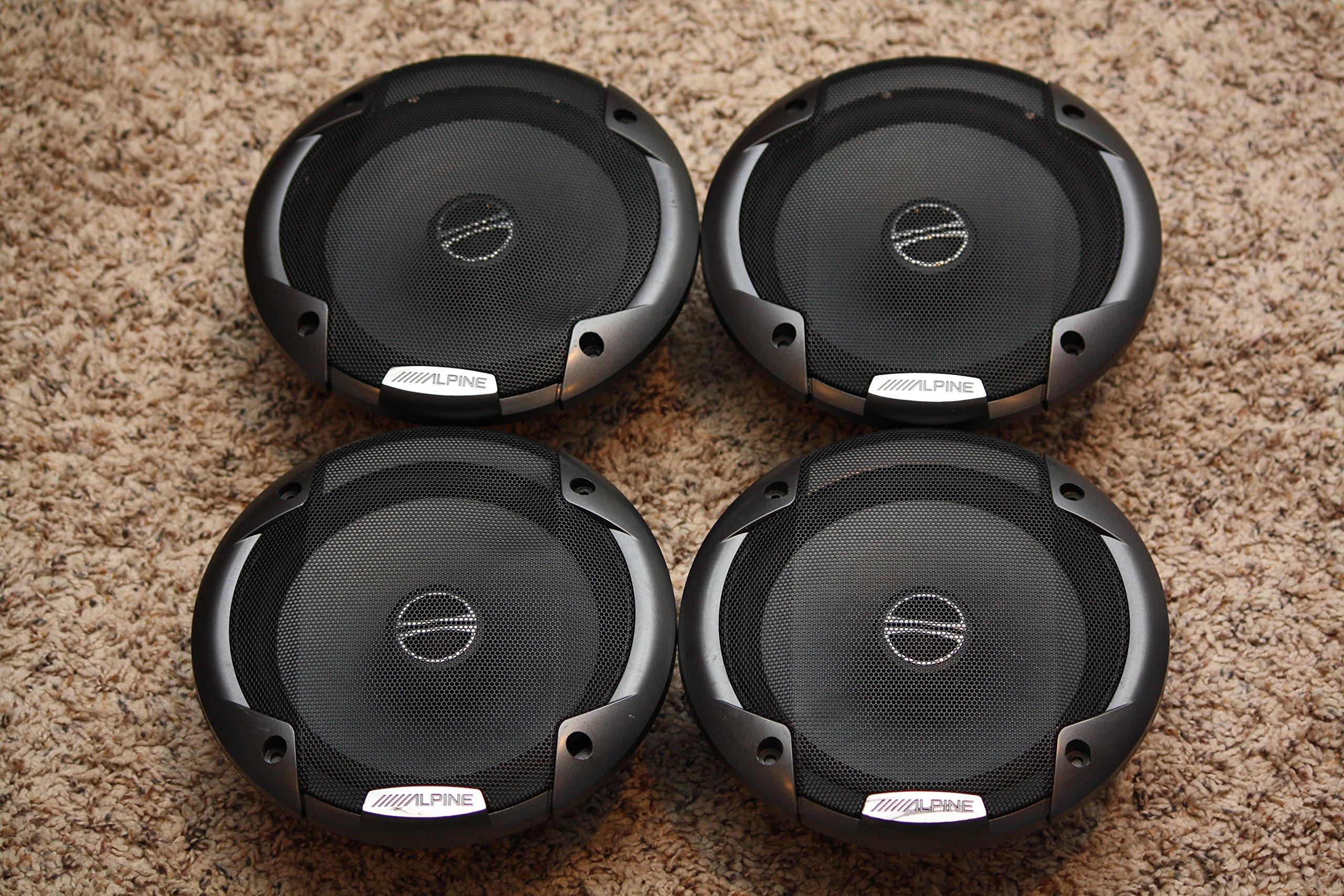 (2) Pairs Alpine Spe-6000 6.5'' 2 Way Pair of Car Speakers Totalling 960 Watts Peak / 240 Watts RMS