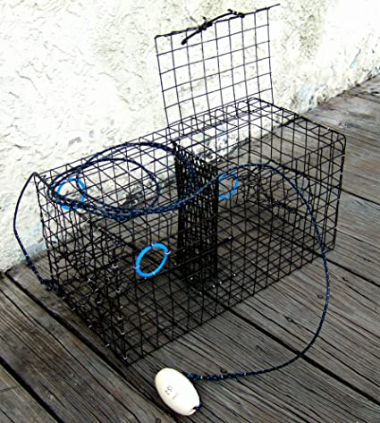 PVC Black Commercial Grade heavy Duty Crab Pot Trap FREE SHIPPING