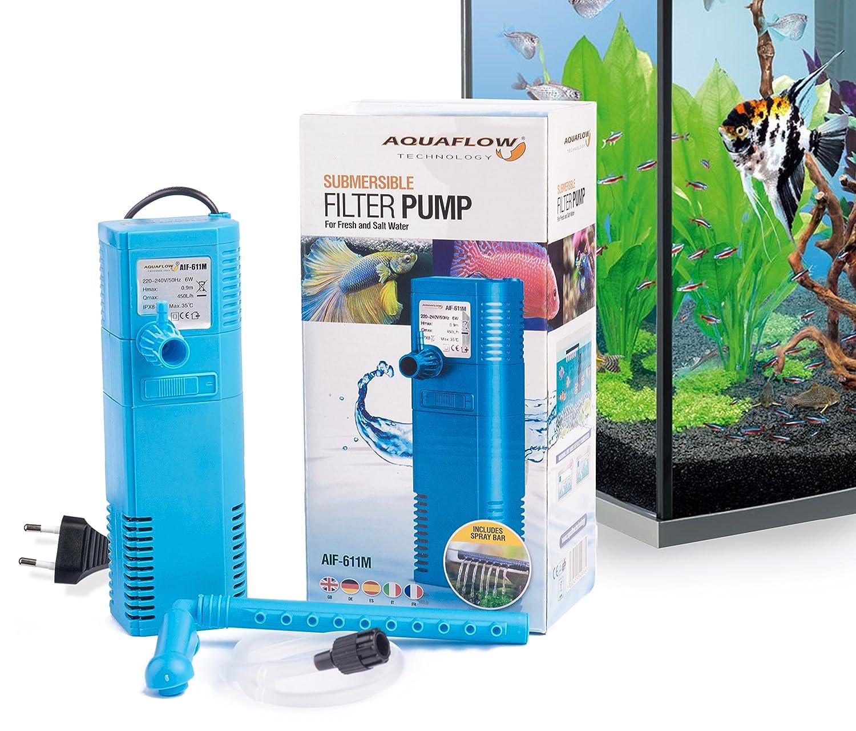 Aquaflow Technology® AIF-611M - Filtro sumergible del tanque de pescados del acuario interno: Amazon.es: Jardín