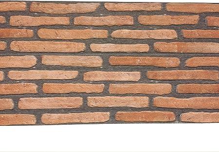 Plaquette De Parement En Polystyrene Pour Salon Cuisine Terrasse Chambre Decor Mural En Brique Pour Maison Ou Appartement 120cm X 50cm X 2cm Rouge Noir Fin Amazon Fr Bricolage
