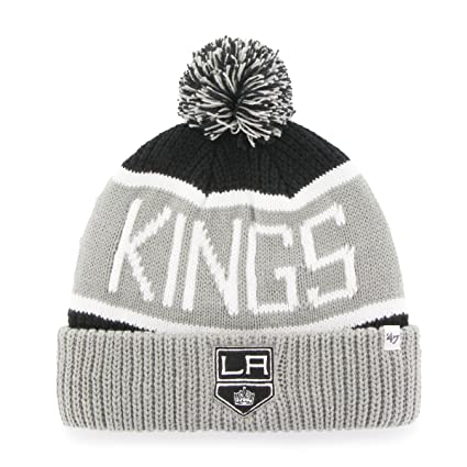 low priced 38ae7 e0f53  47 NHL Los Angeles Kings Calgary Cuff Knit Hat, One Size, Black