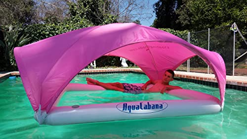 Aqua Cabana Floating Shade Ultimate Sun Shade System for Water Activities, Durable, Inflatable, and Portable Pink