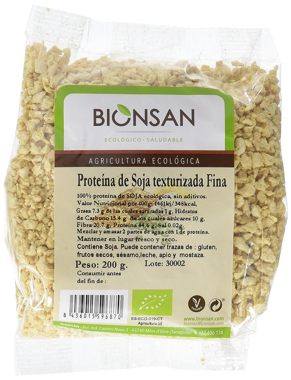 Bionsan Proteína de Soja Texturizada Fina - 6 Paquetes de 200 gr - Total: 1200 gr: Amazon.es: Alimentación y bebidas