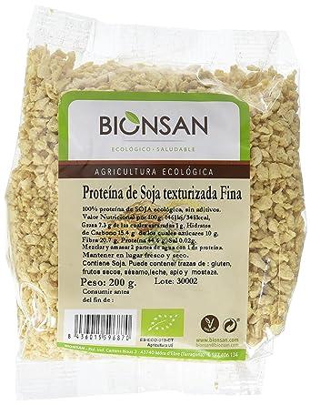 Bionsan Proteína de Soja Texturizada Fina - 6 Paquetes de 200 gr - Total: 1200