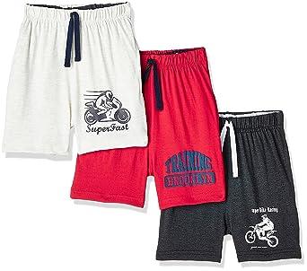 Cloth Theory Boys' Regular Fit Cotton Shorts (Pack of 3) Boys' Shorts & Dungarees at amazon