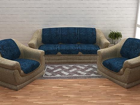 buy cloth fusion italian velvet 10 pcs sofa covers set of 5 seater rh amazon in