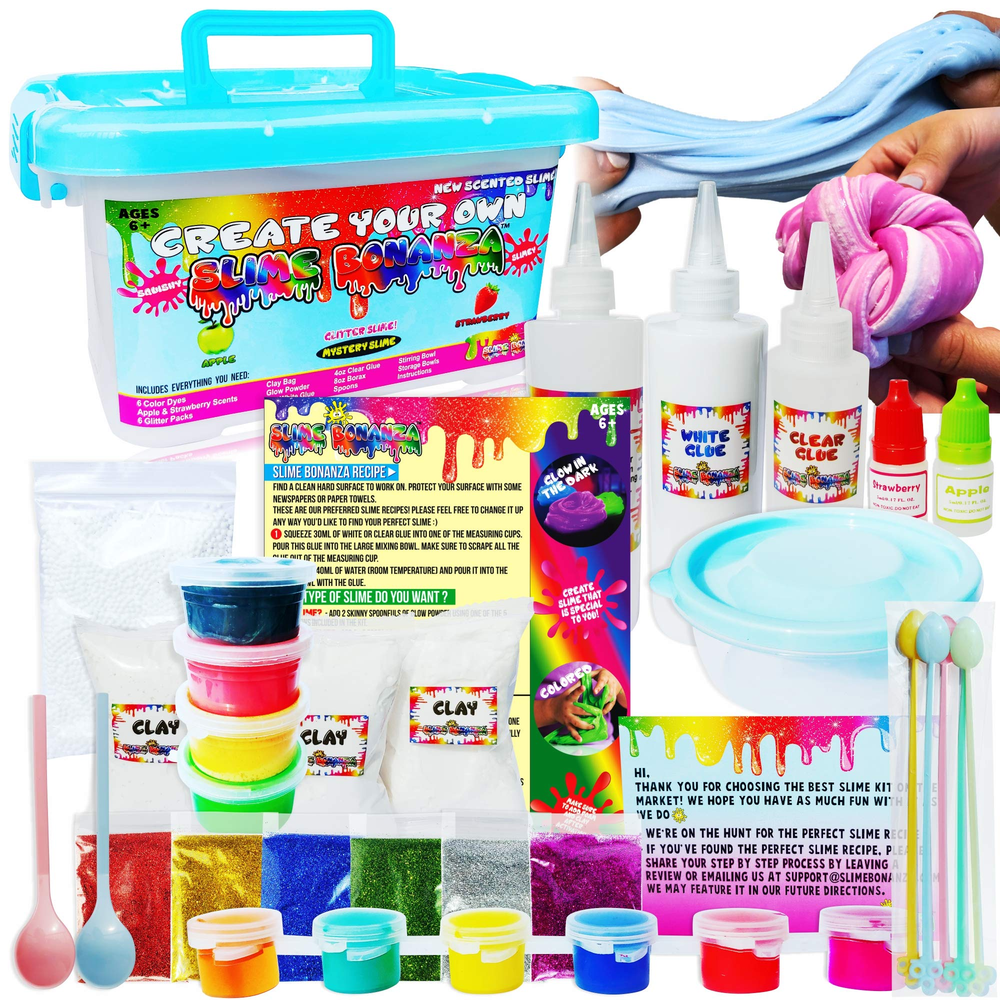 Slime Bonanza Slime kit for Girls and Boys 36pcs DIY Slime Making kit, just add Water! by Slime Bonanza
