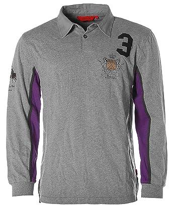 Signum B4088 - Camiseta polo polo cuello Calgary Polo Club franela ...