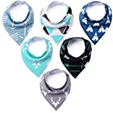 Amazon Price History for:KiddyByte Premium Baby Bibs - Cute Designs for Boys, Super Drool Absorbent 100% Organic Cotton, 6-Pack Gift Set
