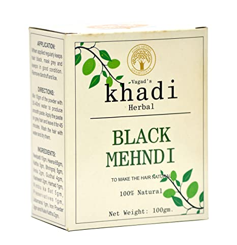 9c58d34edceab Buy Vagad's Khadi Herbal Hair Color, Black, 100g Online at Low Prices in  India - Amazon.in