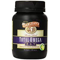 Barlean's Organic Oils Total Omega, Lemonade Flavor, 90 Softgels / 1000 mg Each,...