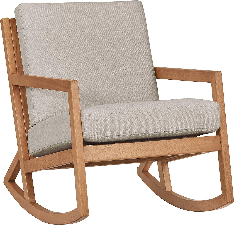 "Amazon Brand – Stone & Beam Modern Hardwood Rocking Chair, 24.5""W, Light Gray"
