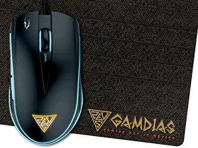 Gamdias Zeus E1 Optical Gaming Mouse With 6 Smart Buttons, Double Level Multi-Color Lighting And Gaming Mouse Mat