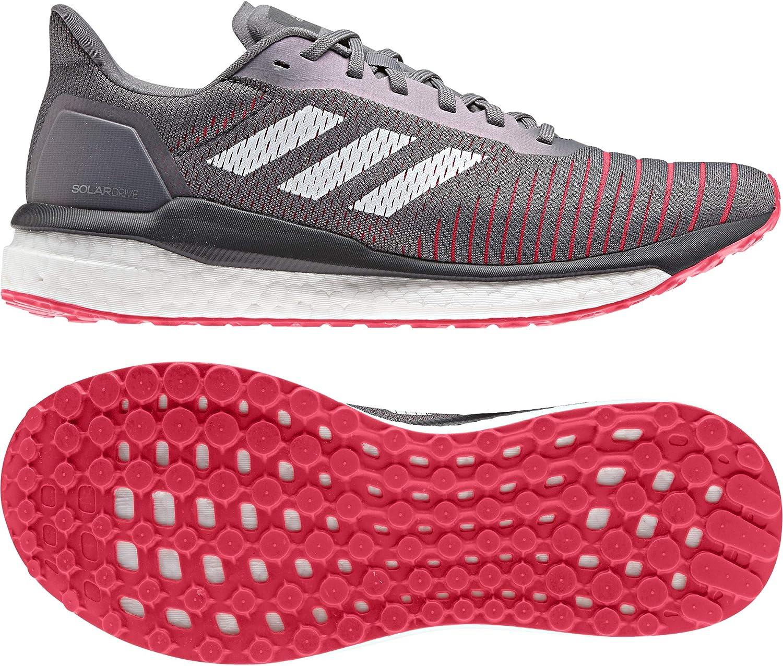 adidas Solar Drive Neutralschuh Herren-Grau, Weiß, Zapatillas de Running Calzado Neutro para Hombre