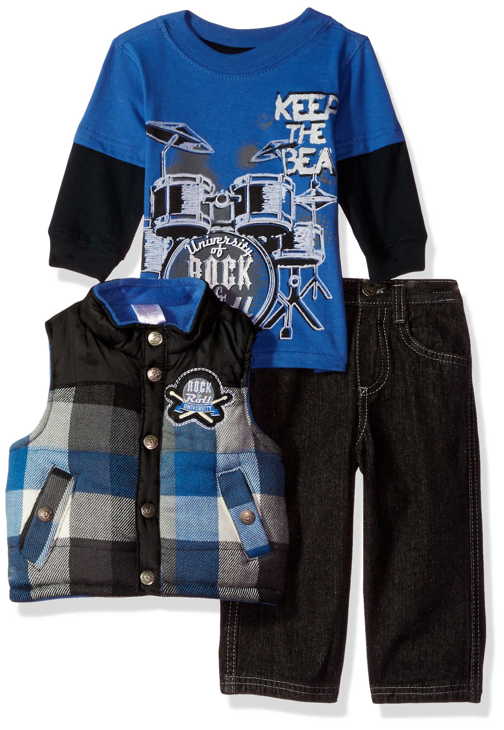 Little Rebels Baby Boys' 3 Piece Keep The Beat Vest