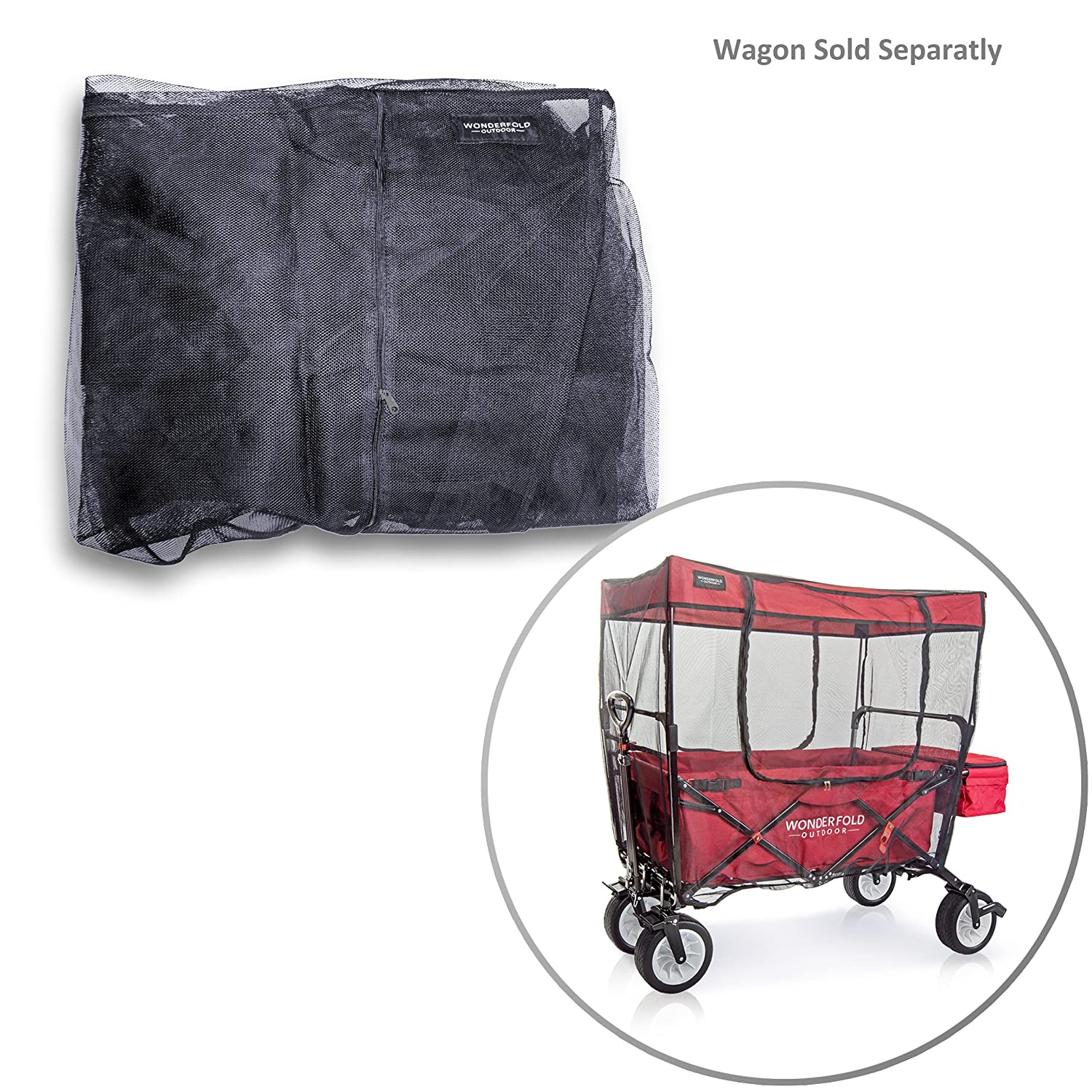 WonderFold Outdoor Mosquito NET For canopy folding wagon (Insects Bugs Netting ONLY) EverydaySports