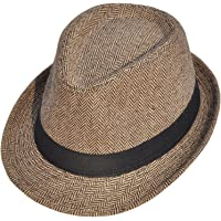 YoungLove Classic Gangster Stain-Resistant Crushable Gentleman's Fedora
