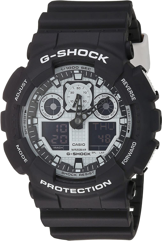Casio G-Shock GA-100BW-1A White and Black Series Luxury Watch - Black/One Size: G-SHOCK: Watches