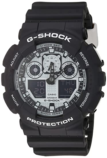 Casio Malla Me Up G SHOCK Cuarzo: Batería JAPAN Reloj (Modelo de Asia) GA-100BW-1A: Casio: Amazon.es: Relojes