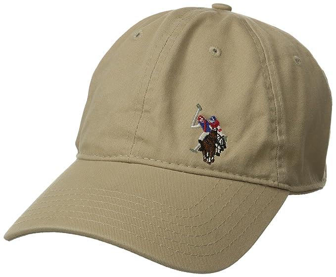 U.S. Polo Assn. Gorra de béisbol de sarga lavada para hombre ... 07f0e281aa4