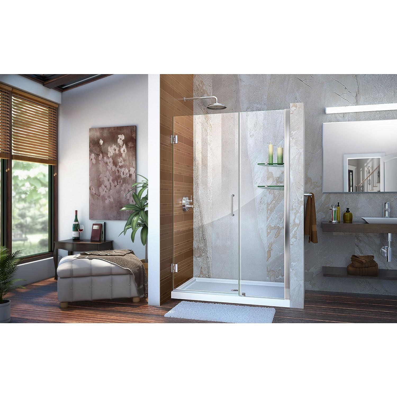 Dreamline Unidoor 45 46 In W X 72 In H Frameless Hinged Shower