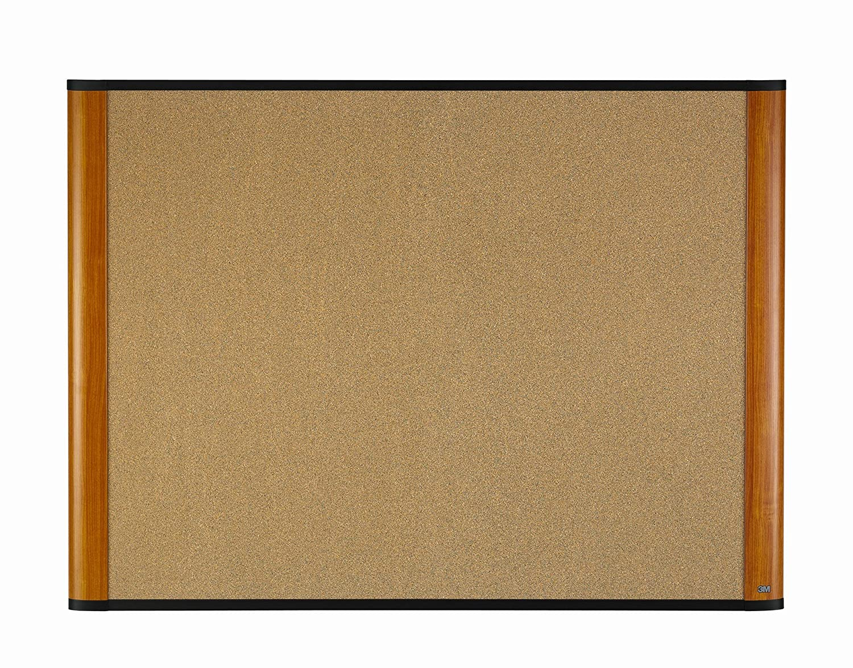 3M 36 x 24 Cork Board, Mahogany Finish Frame (C3624MY) MMMC3624MY