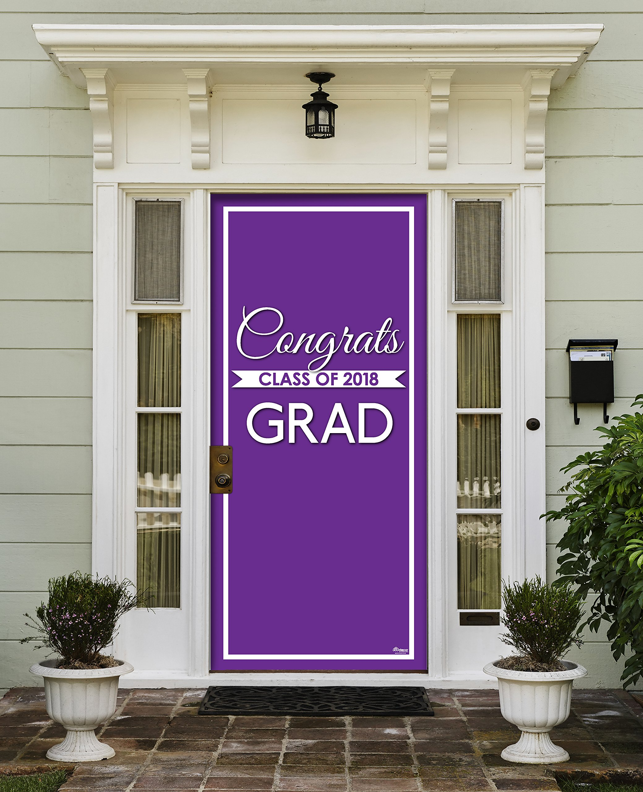 Victory Corps Class Banner Purple - Outdoor GRADUATION Garage Door Banner Mural Sign Décor 36'' x 80'' One Size Fits All Front Door Car Garage -The Original Holiday Front Door Banner Decor
