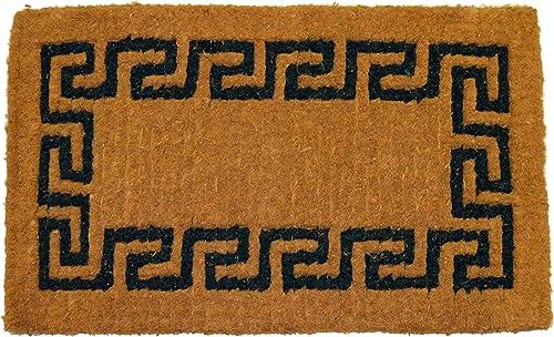 Geo Crafts Imperial Greek Key Doormat, 30 by 48-Inch, Green