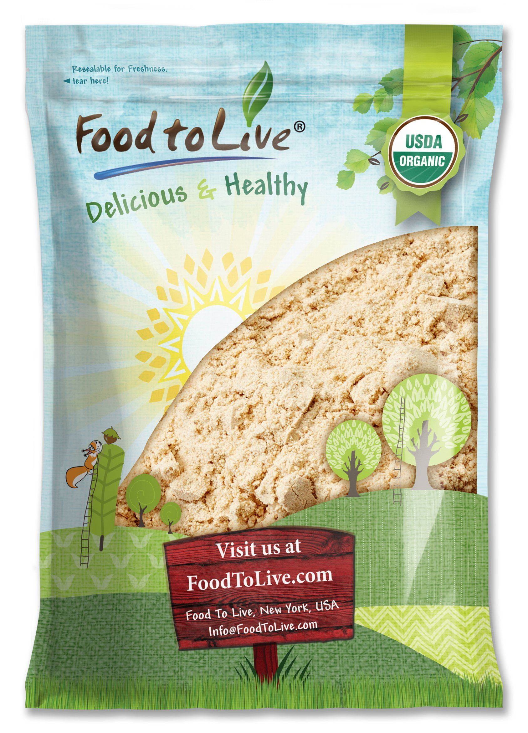 Food to Live Certified Organic Ginger Root Powder (Non-GMO, Kosher, Bulk, Raw Ground Ginger Root, Flour) (8 pounds)