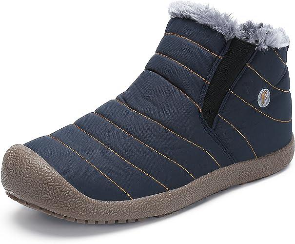 SAGUARO® Herren Winterschuhe Warm Gefüttert Schneestiefel Winter Outdoor Boots Winterstiefel