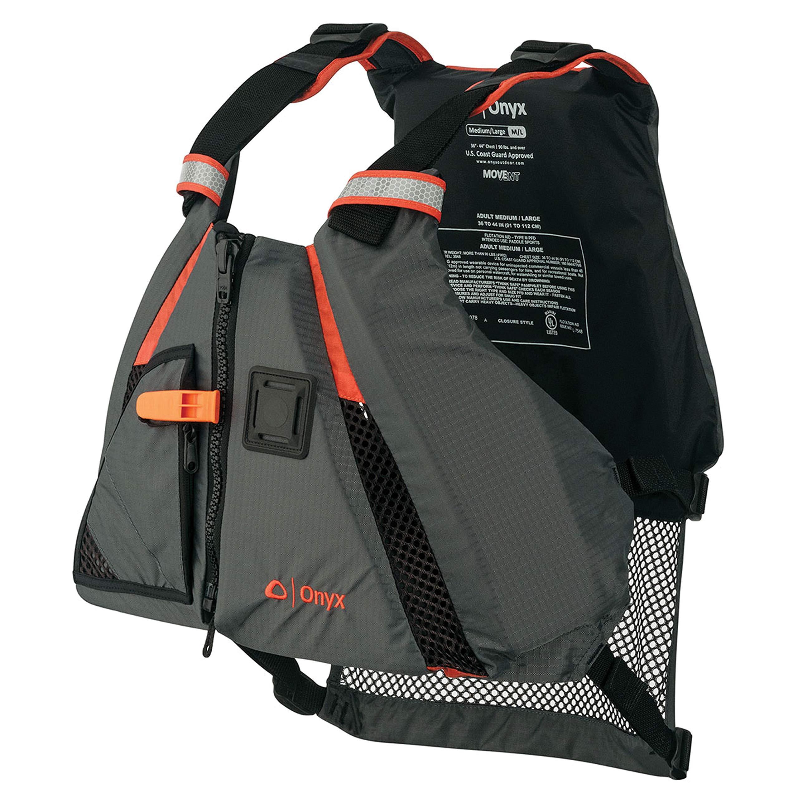 ONYX MoveVent Dynamic Paddle Sports Life Vest, Orange, Medium/Large by Onyx (Image #1)