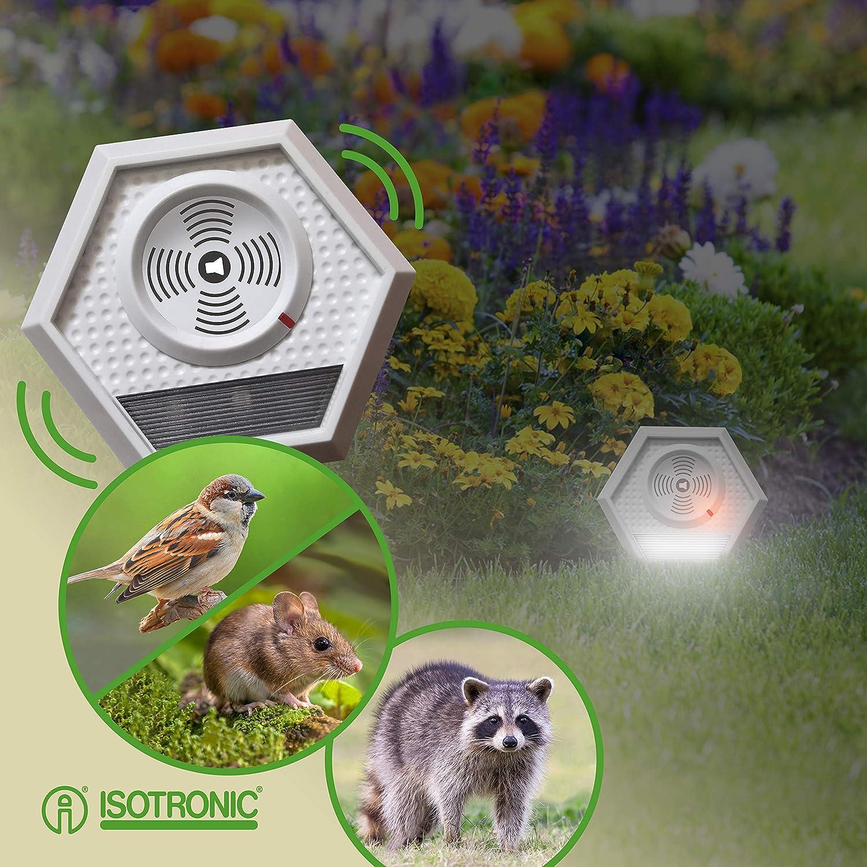 ISOTRONIC Bird Pigeon Animal Repeller Set of 3 Portable Deterrent Repellent Scarer Cat Dog