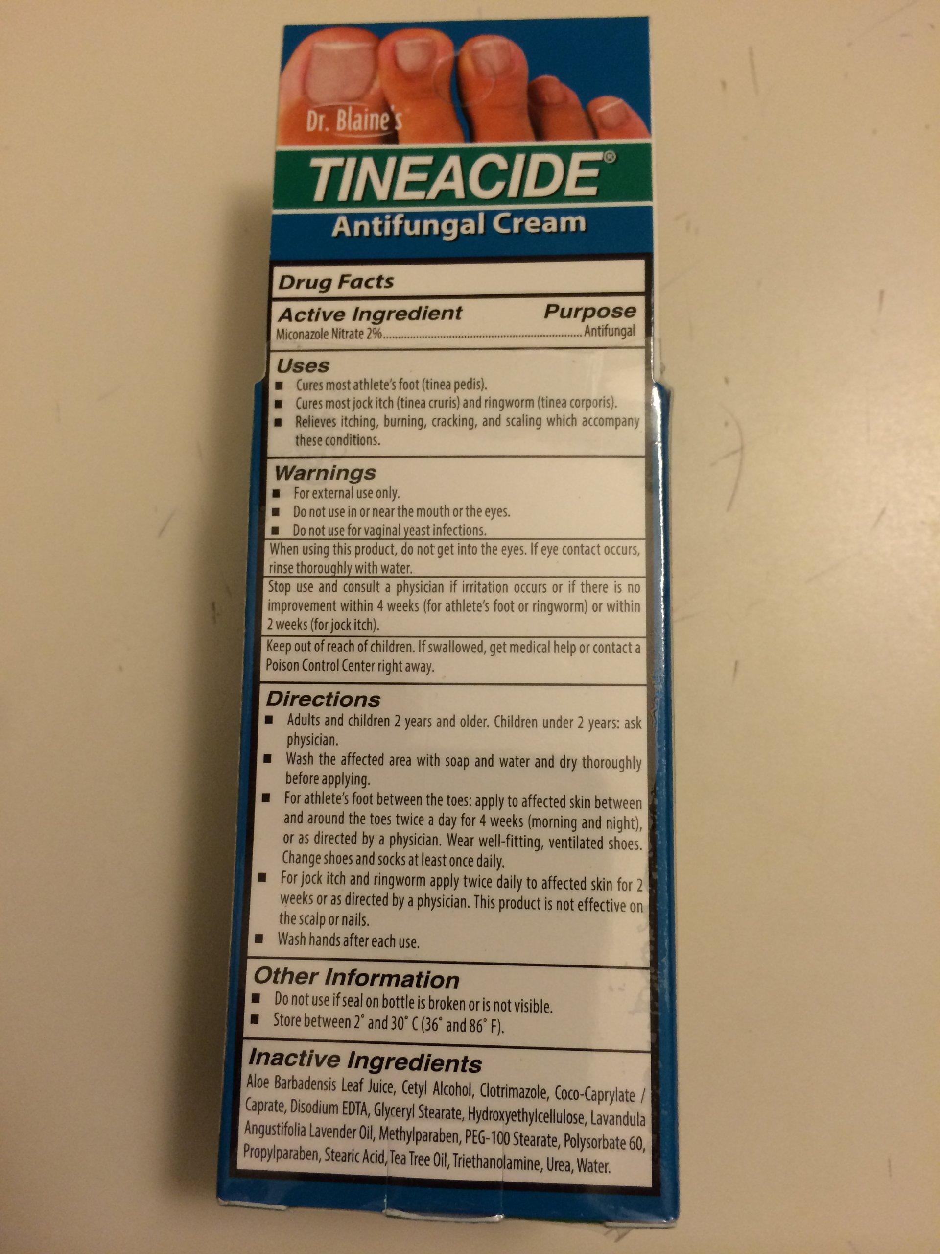 Dr. Blaine's Tineacide Antifungal Cream 1.25 oz. (Quantity of 3) by DR. bLAINE'S
