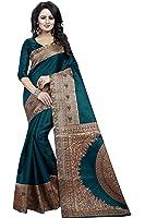 Kanchan Women's Silk Saree (KALAMKARI RAMA_Multi Coloured)