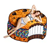 BigMouth Inc Giant Ice Cream Cookie Sandwich Beach Blanket, Oversized Beach Towel, Ulta-Soft Microfiber Towel, 5 Feet…