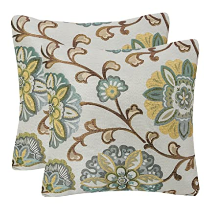 Amazon Pack Of 40 Simpledecor Throw Pillow Covers Decorative Beauteous Teal And Brown Decorative Pillows