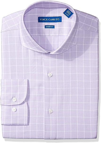 Vince Camuto Mens Modern Fit Windowpane Dress Shirt